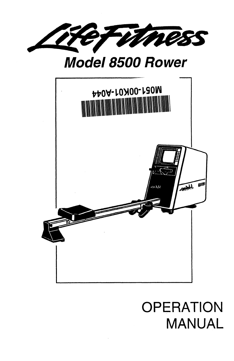 Life Fitness Rowing Machine 8500 User Guide