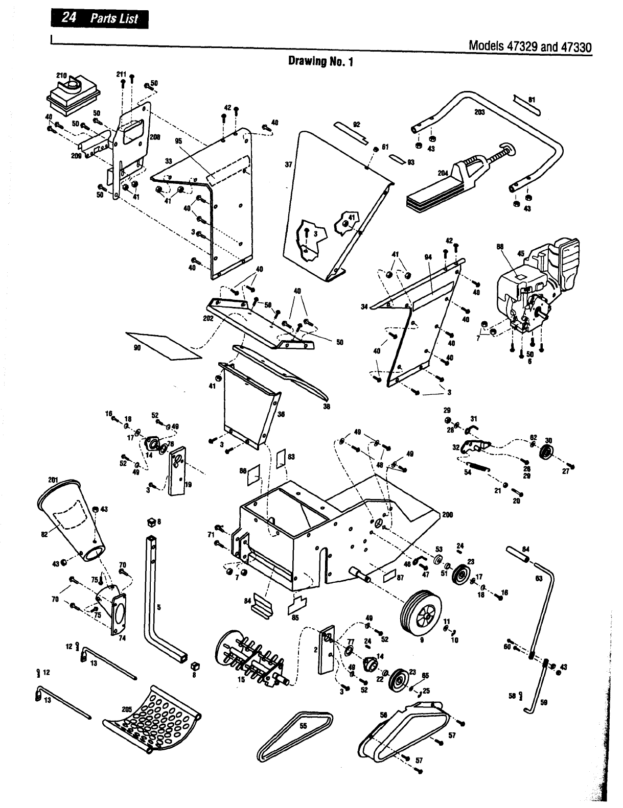 Page 24 of Troy-Bilt Chipper 47330 User Guide