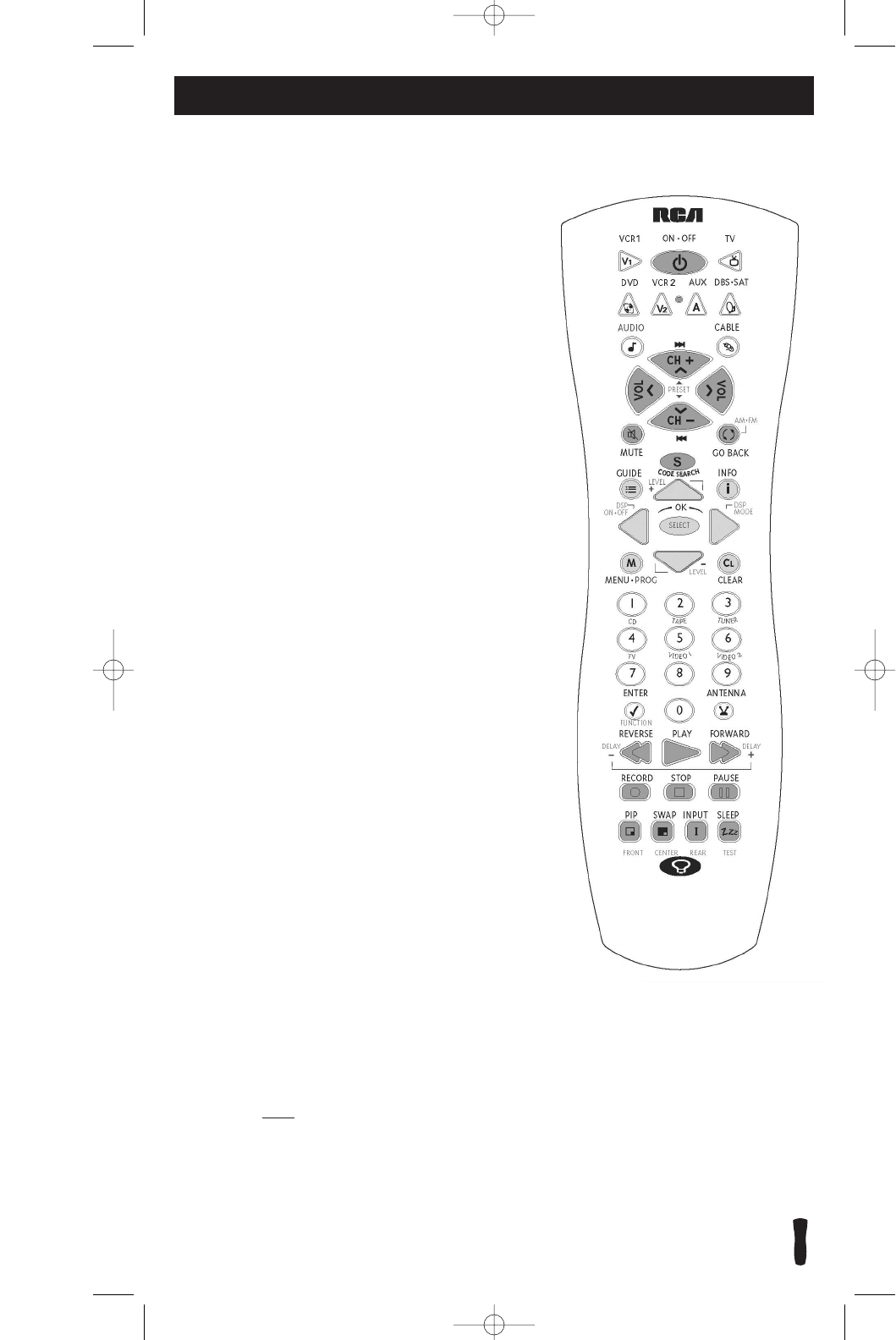 Page 4 of RCA Universal Remote RCU800 User Guide