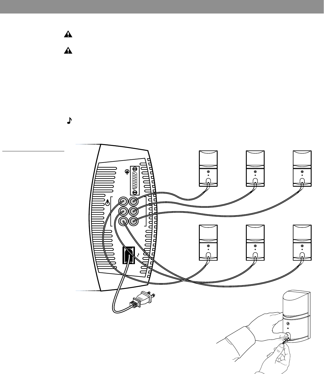 Page 8 of Bose Speaker System 15 User Guide