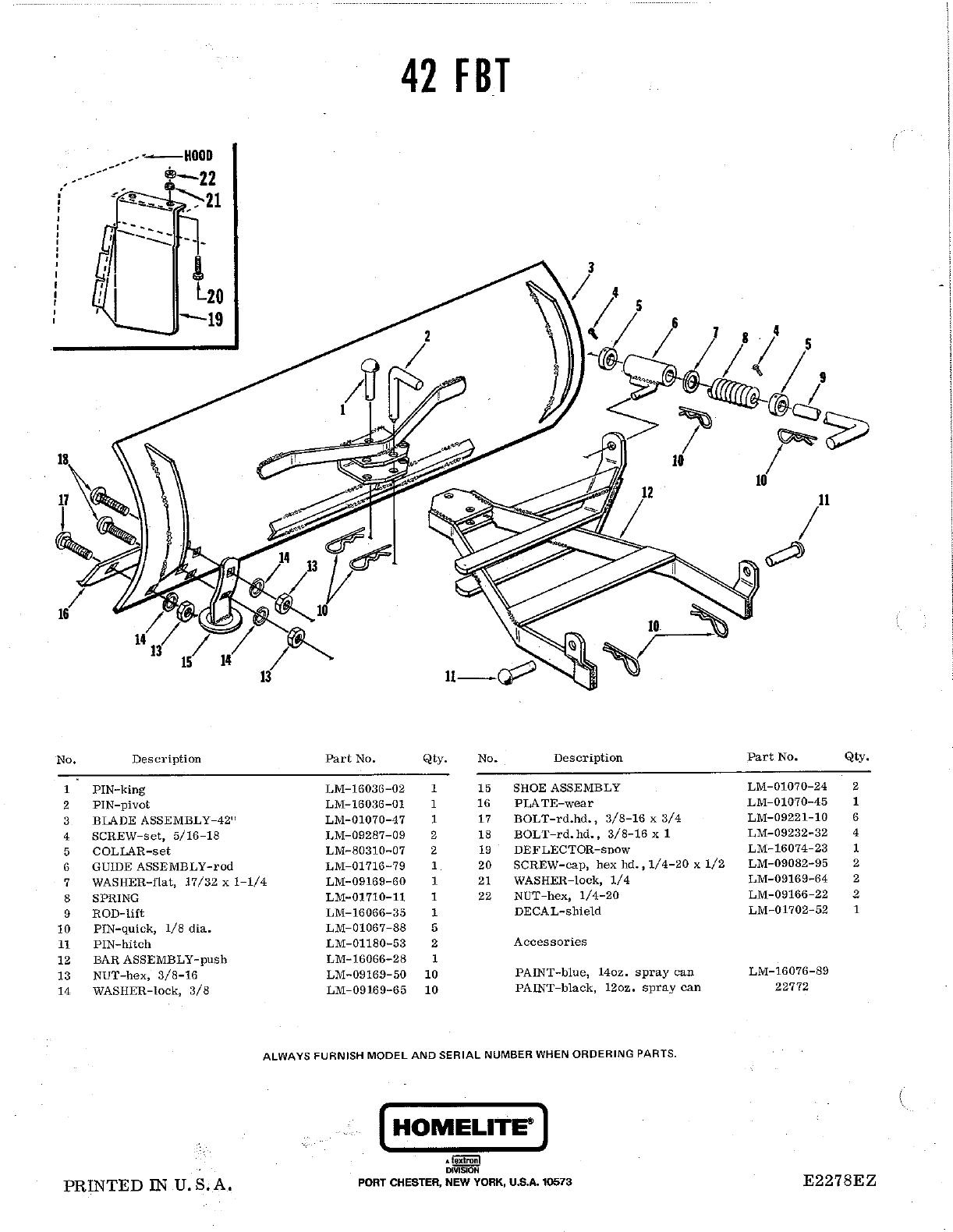 Page 2 of Homelite Lawn Mower T-10 User Guide