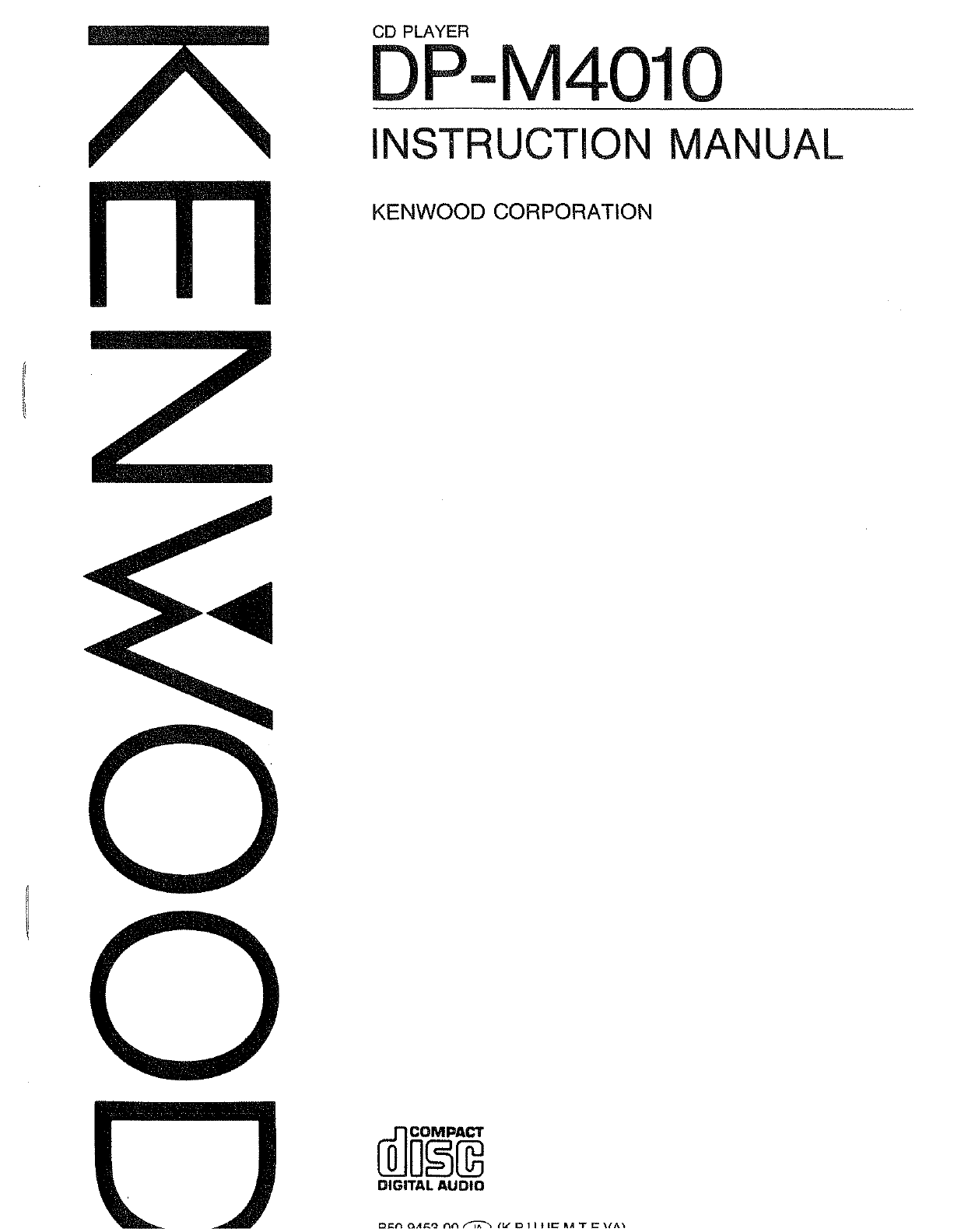 Kenwood Cd Player Dp M User Guide