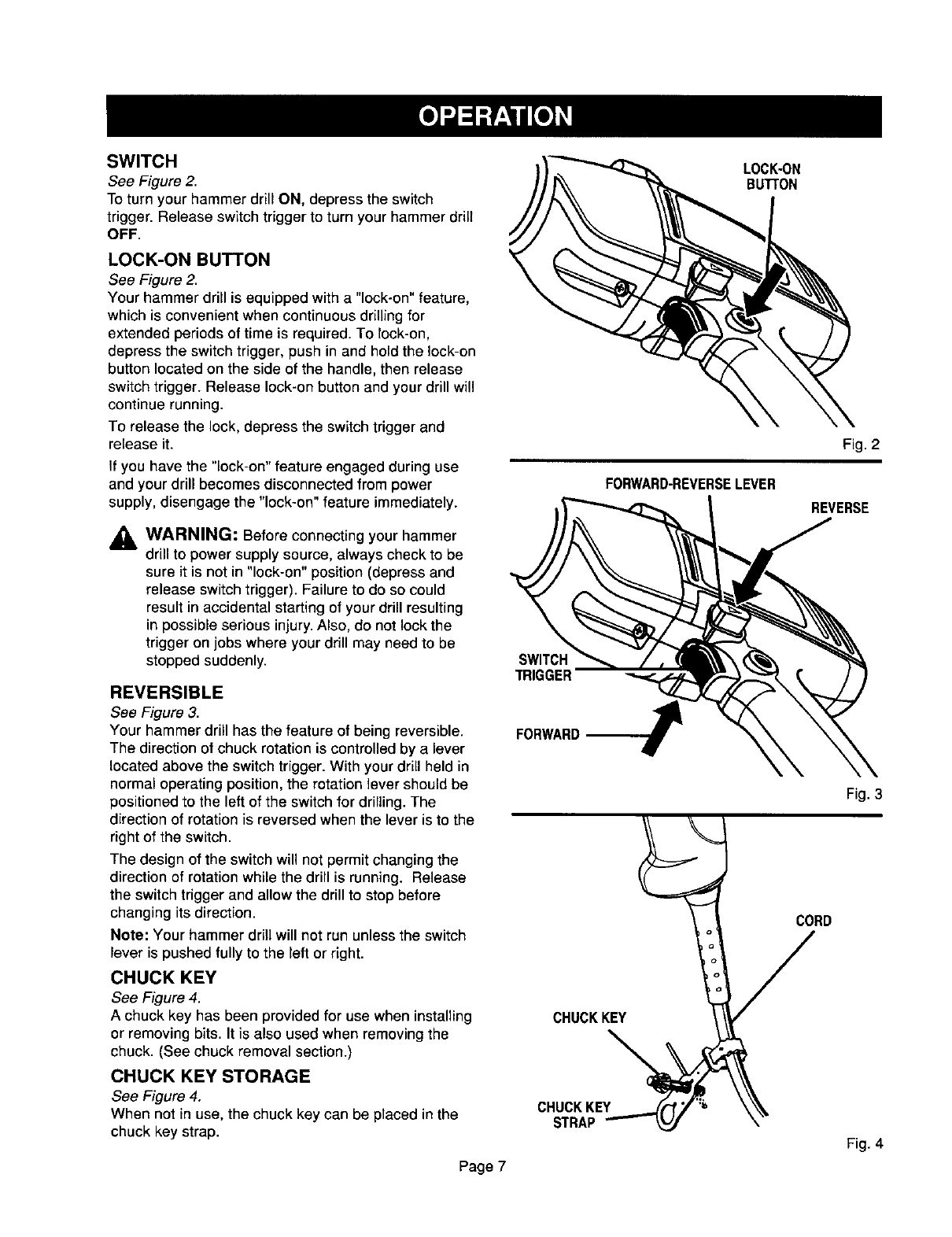 Page 7 of Craftsman Drill 315.10136 User Guide