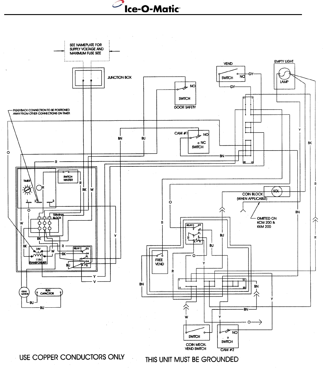 Wiring Diagram On An Older Model Ice O Matic : 44 Wiring