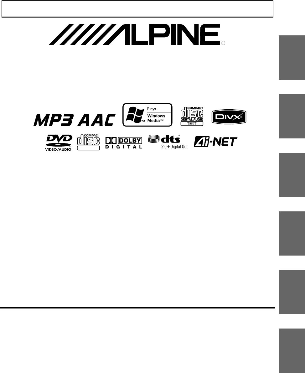 Alpine Car Stereo System DHA-S690 User Guide