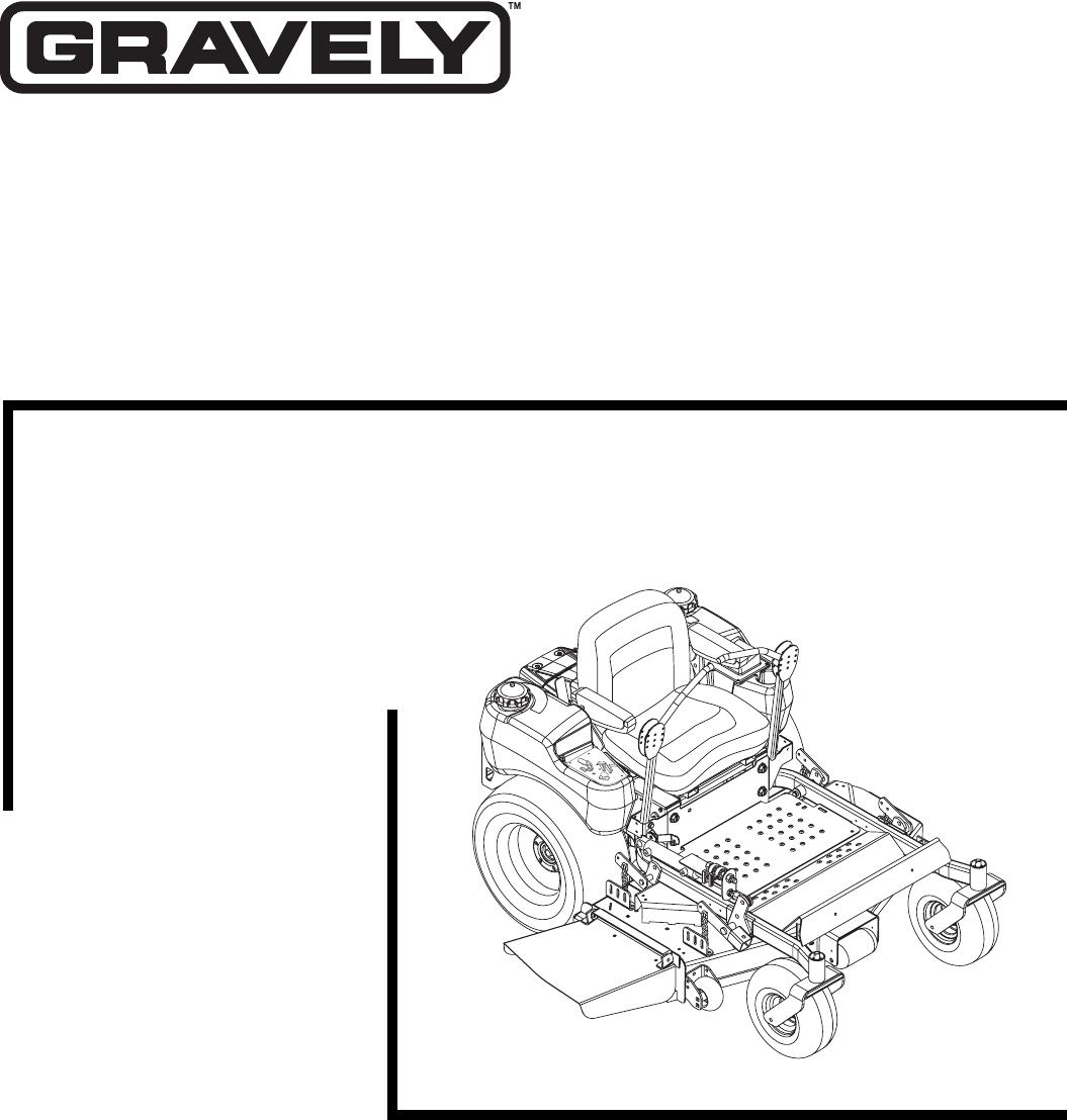 Gravely Lawn Mower 992082 25HP-160Z User Guide