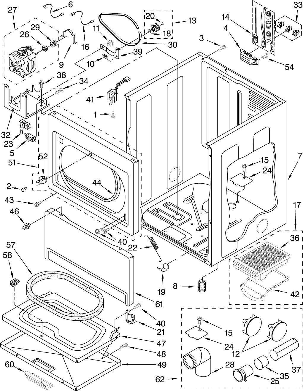 Page 4 of Whirlpool Clothes Dryer 110.658224 User Guide