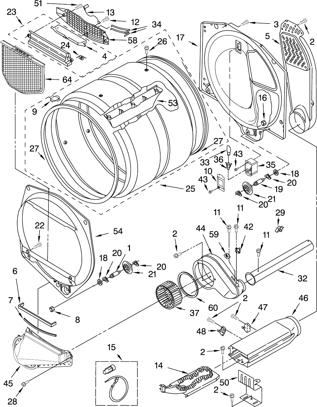 Page 6 of Whirlpool Clothes Dryer 110.658224 User Guide