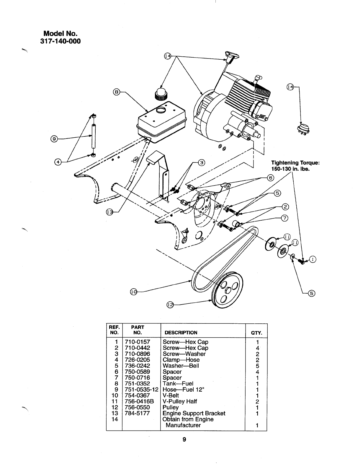 Page 9 of MTD Snow Blower 317E152-000 User Guide
