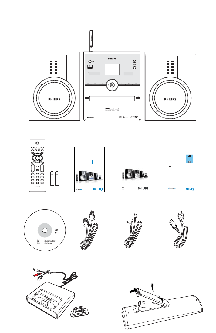 Page 2 of Philips Home Theater System WAC3500 User Guide