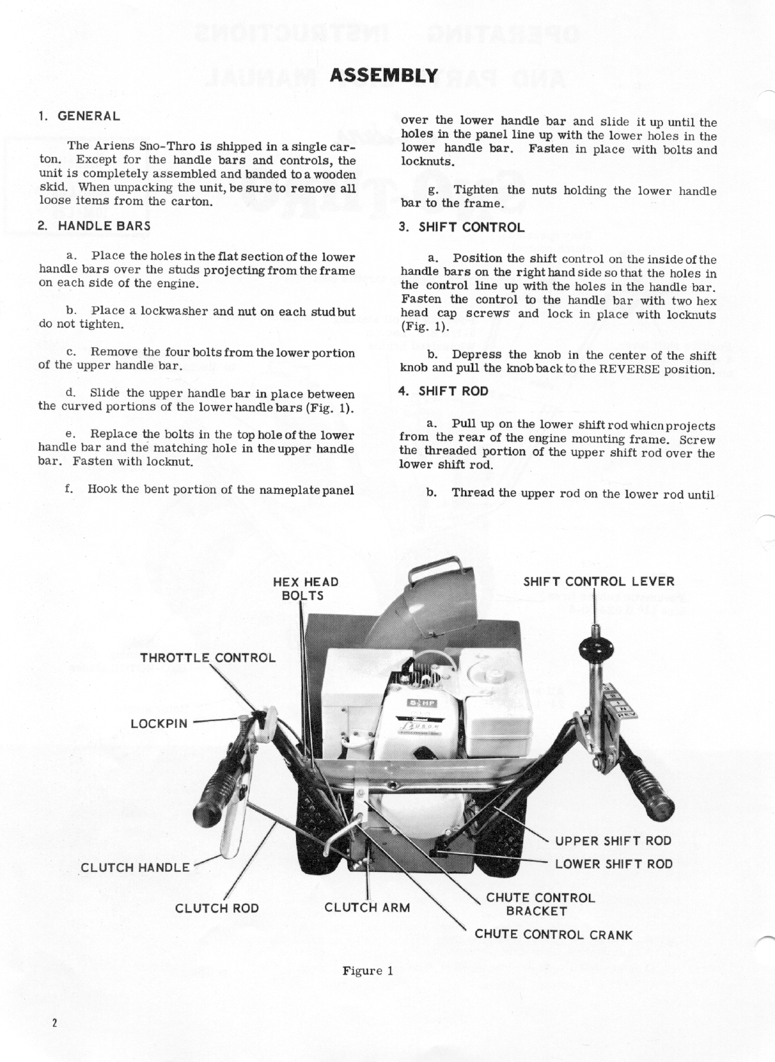 Page 2 of Ariens Snow Blower 10M-L55 User Guide