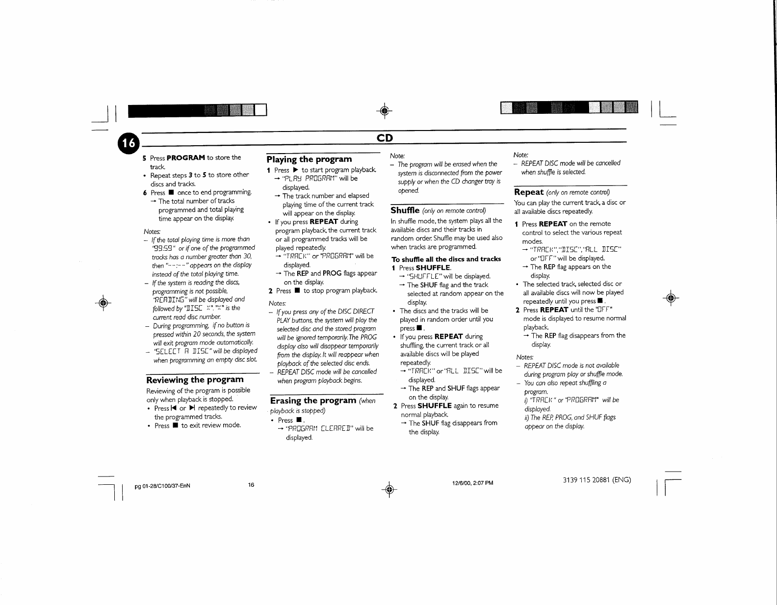 Page 22 of Philips Speaker System FW-C100 User Guide