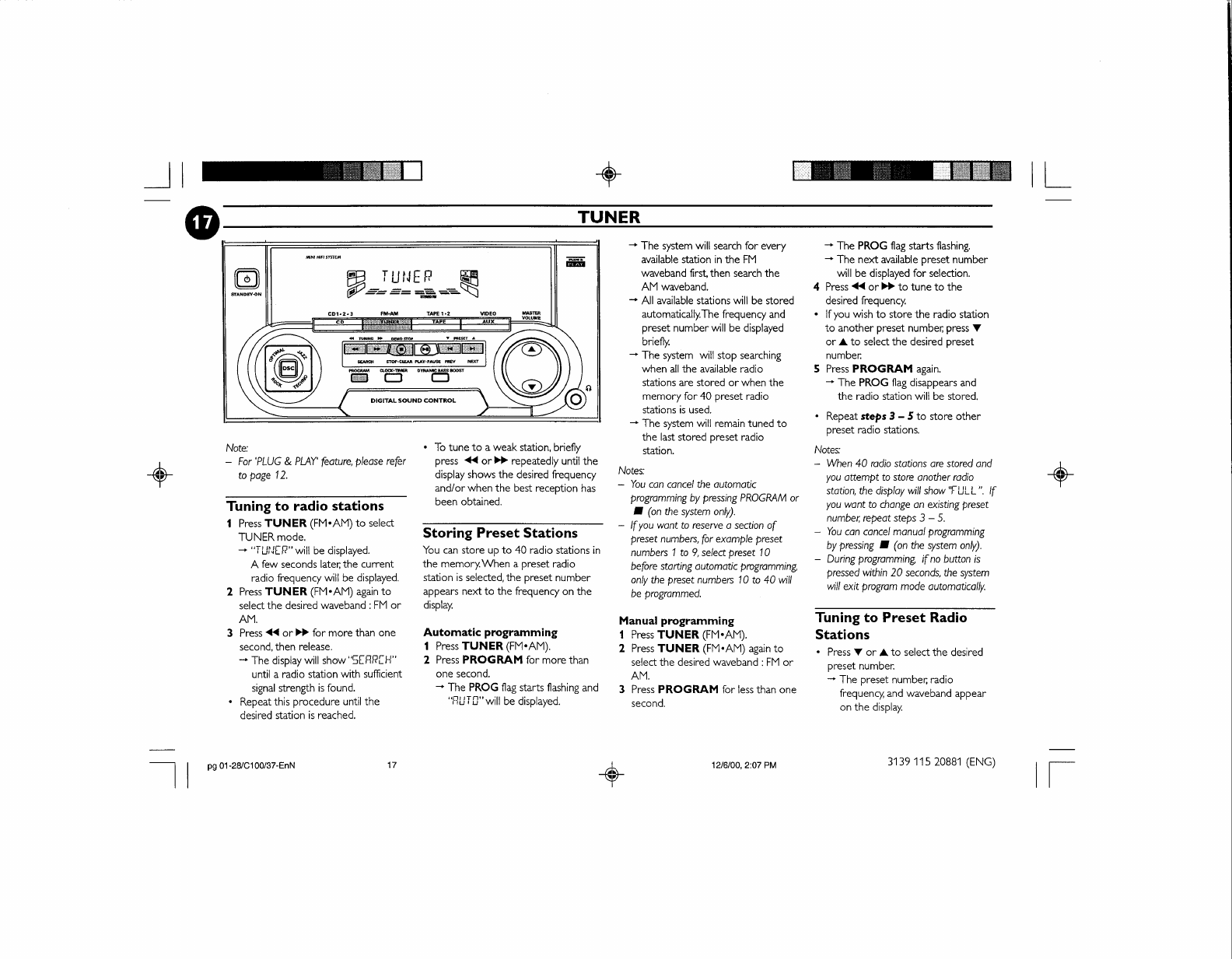 Page 23 of Philips Speaker System FW-C100 User Guide