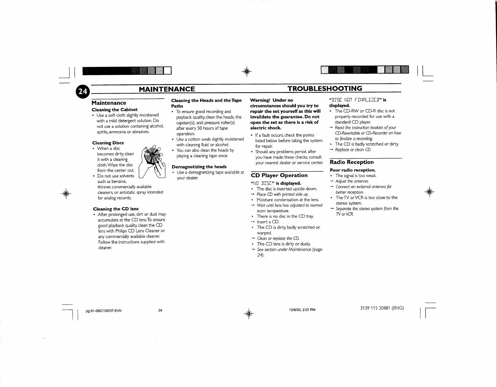 Page 30 of Philips Speaker System FW-C100 User Guide