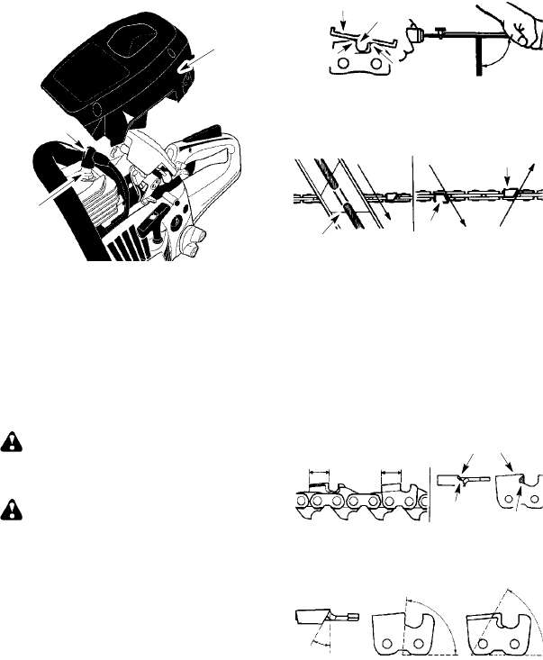 Page 16 of Poulan Chainsaw P3816 User Guide