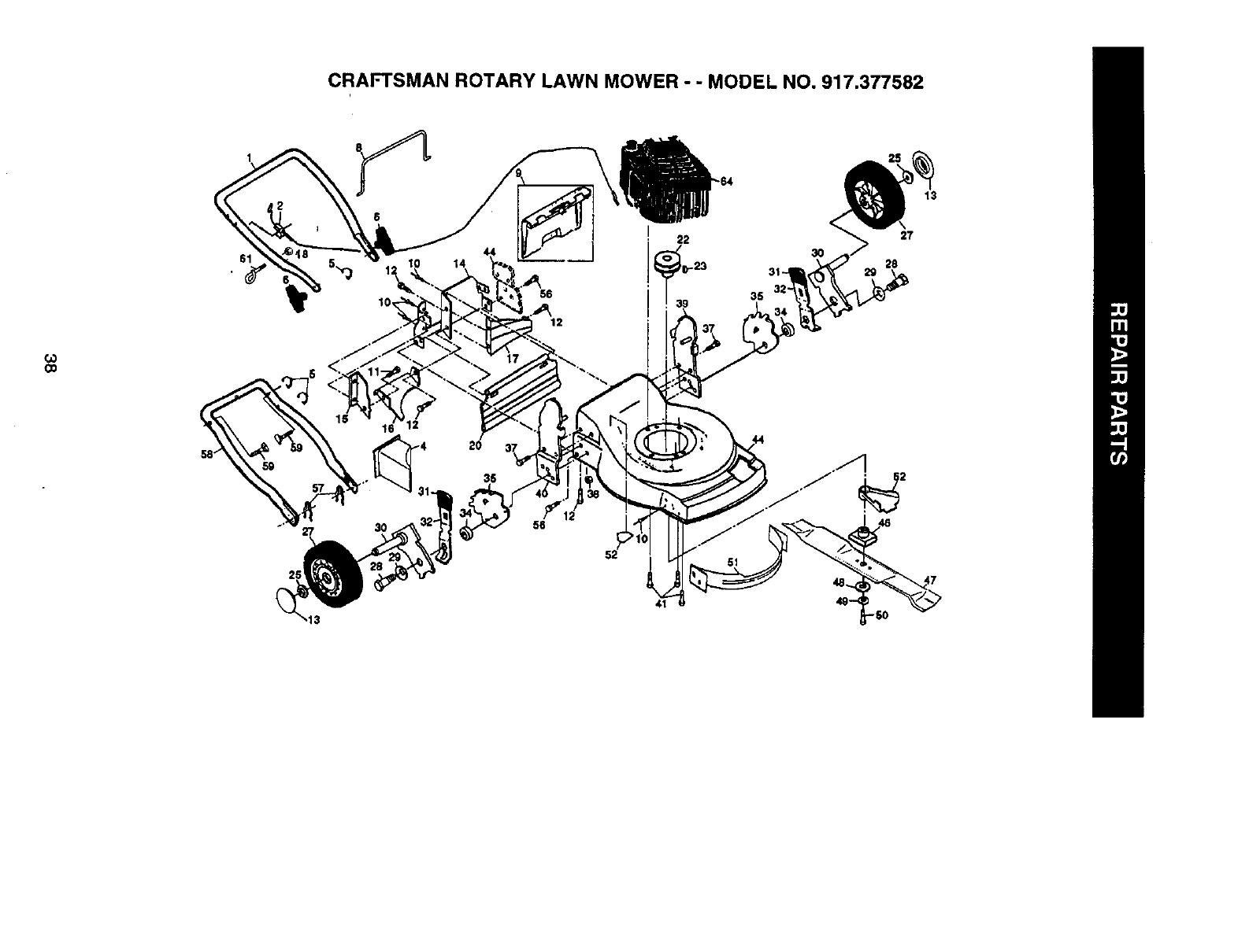 Page 20 of Craftsman Lawn Mower 917.377582 User Guide
