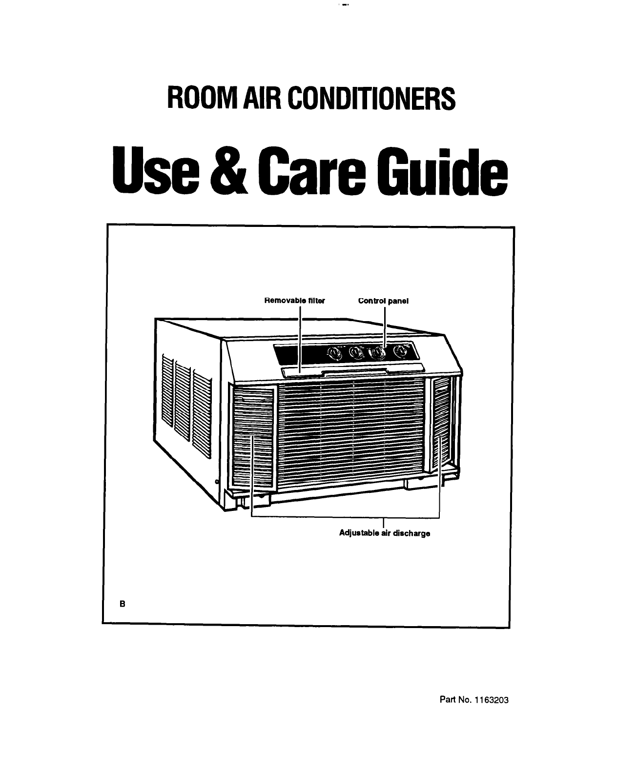 Whirlpool Air Conditioner RH123A1 User Guide