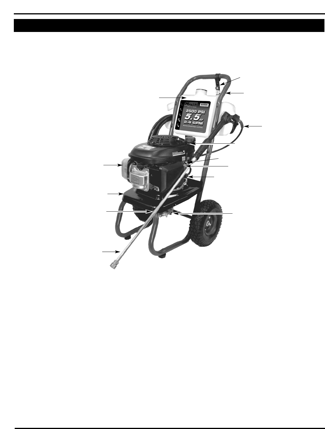Page 2 of Campbell Hausfeld Pressure Washer PW2515 User