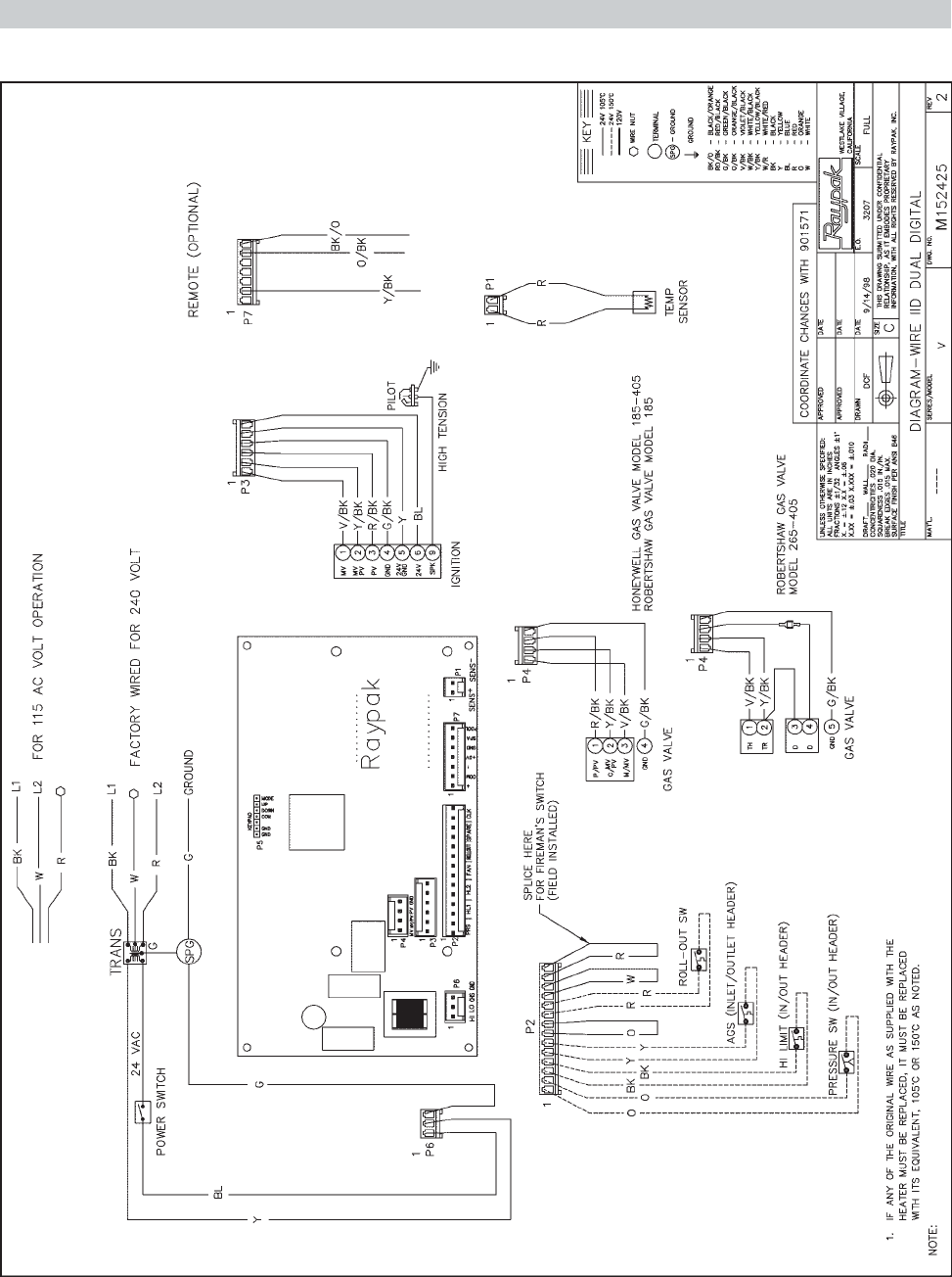 Page 23 of Raypak Swimming Pool Heater RP2100 User Guide