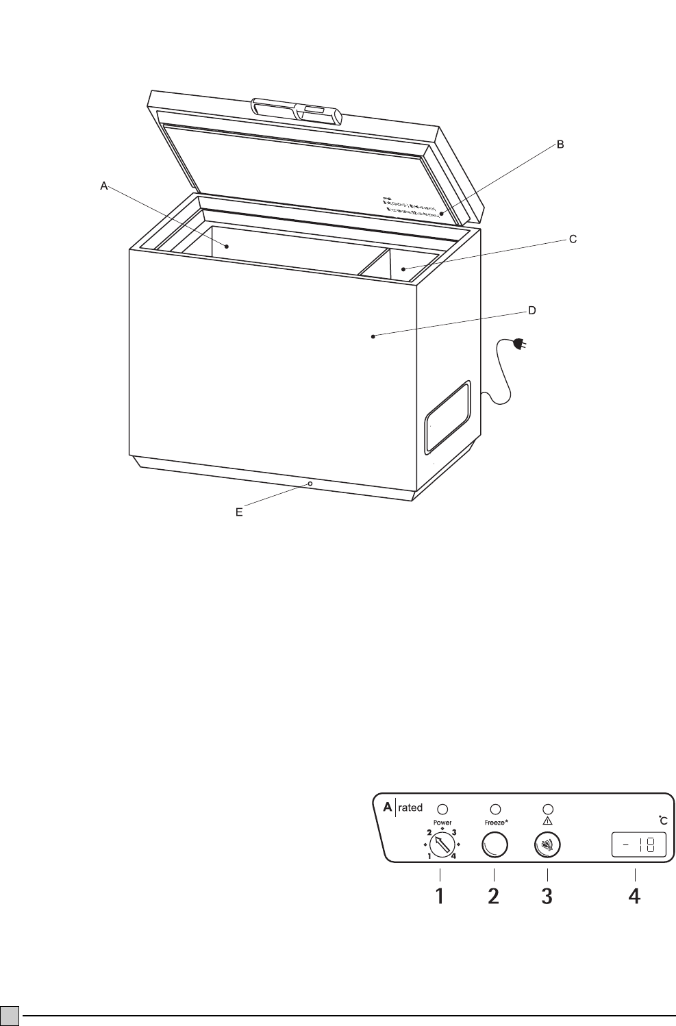 Page 4 of Electrolux Freezer ECM 1957 User Guide