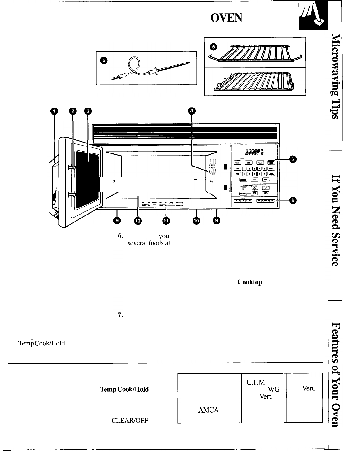 Page 7 of GE Microwave Oven JVM140K User Guide
