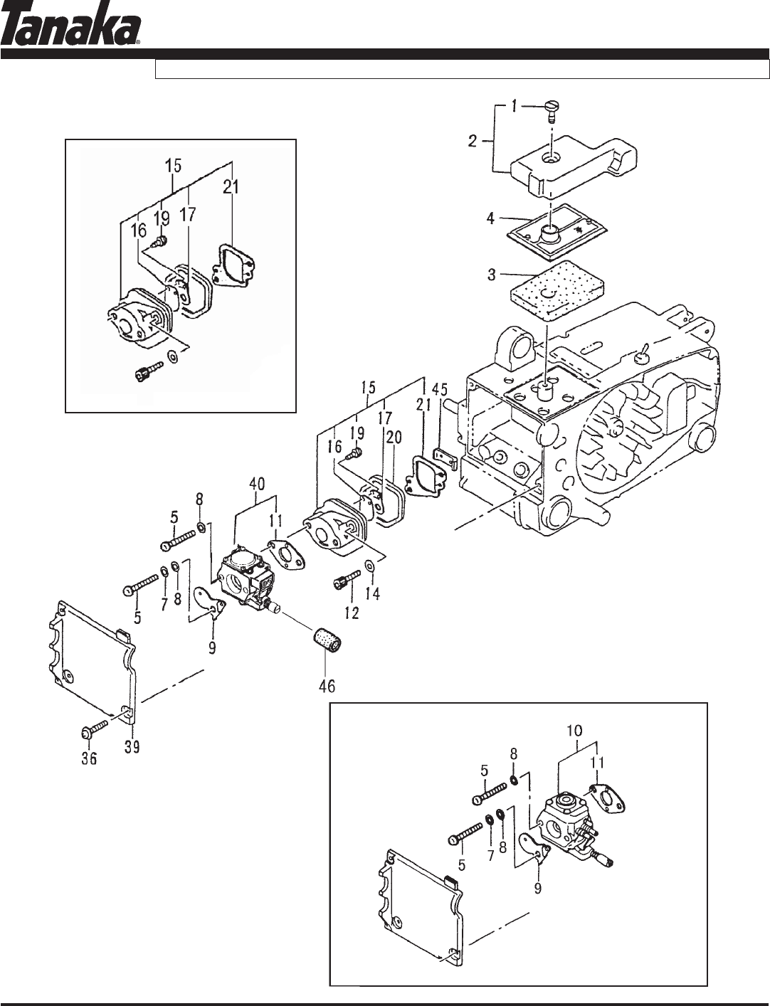 Page 5 of Tanaka Chainsaw ECS-3301/B User Guide