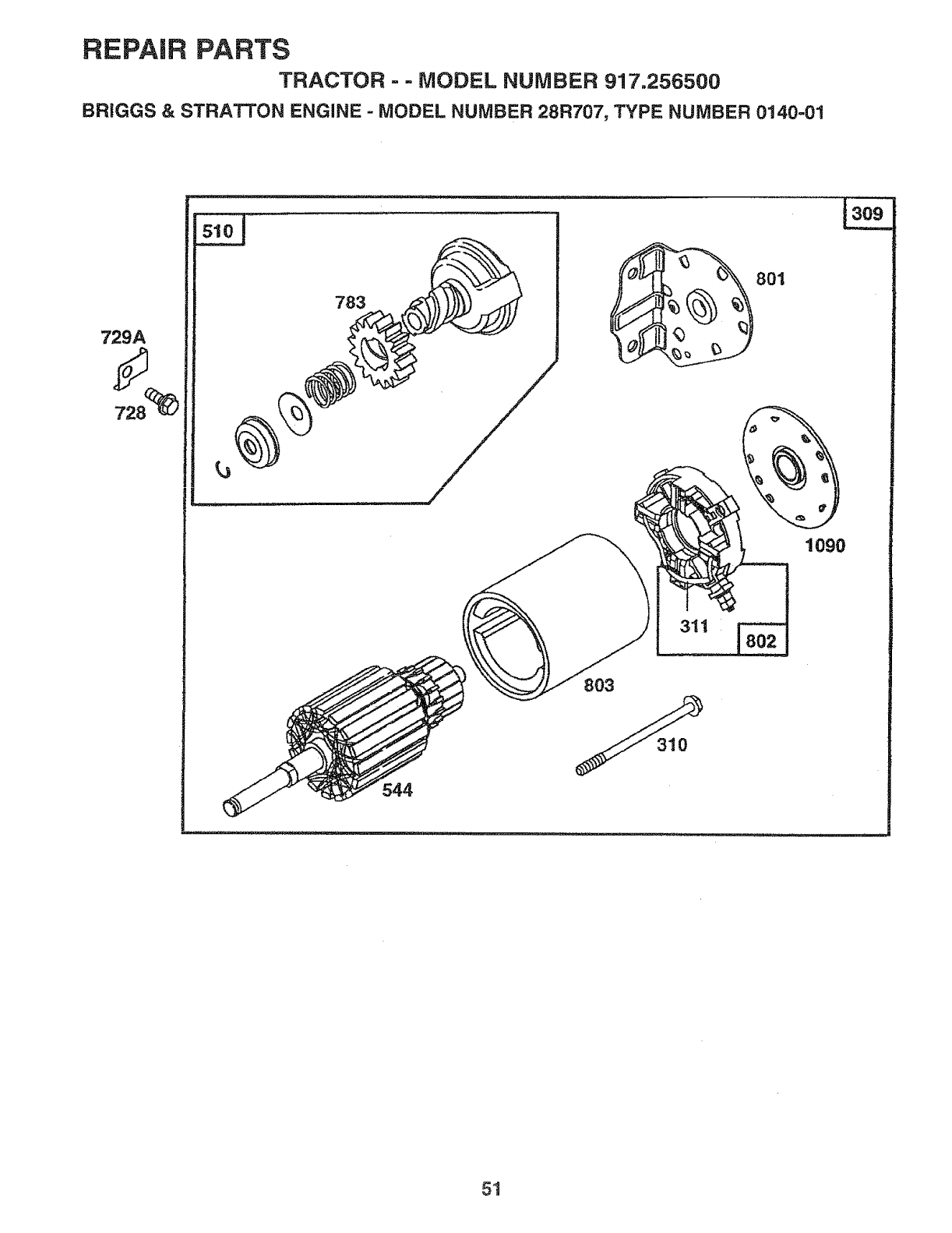 Page 51 of Sears Lawn Mower 917.2565 User Guide