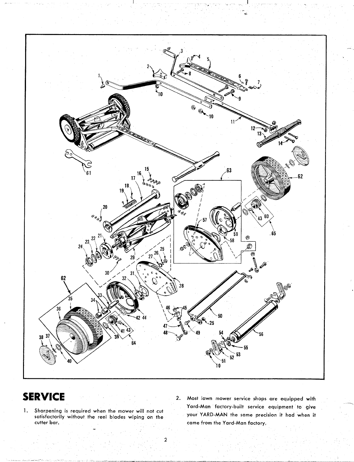 Page 2 of Yard-Man Lawn Mower 0611-213 User Guide