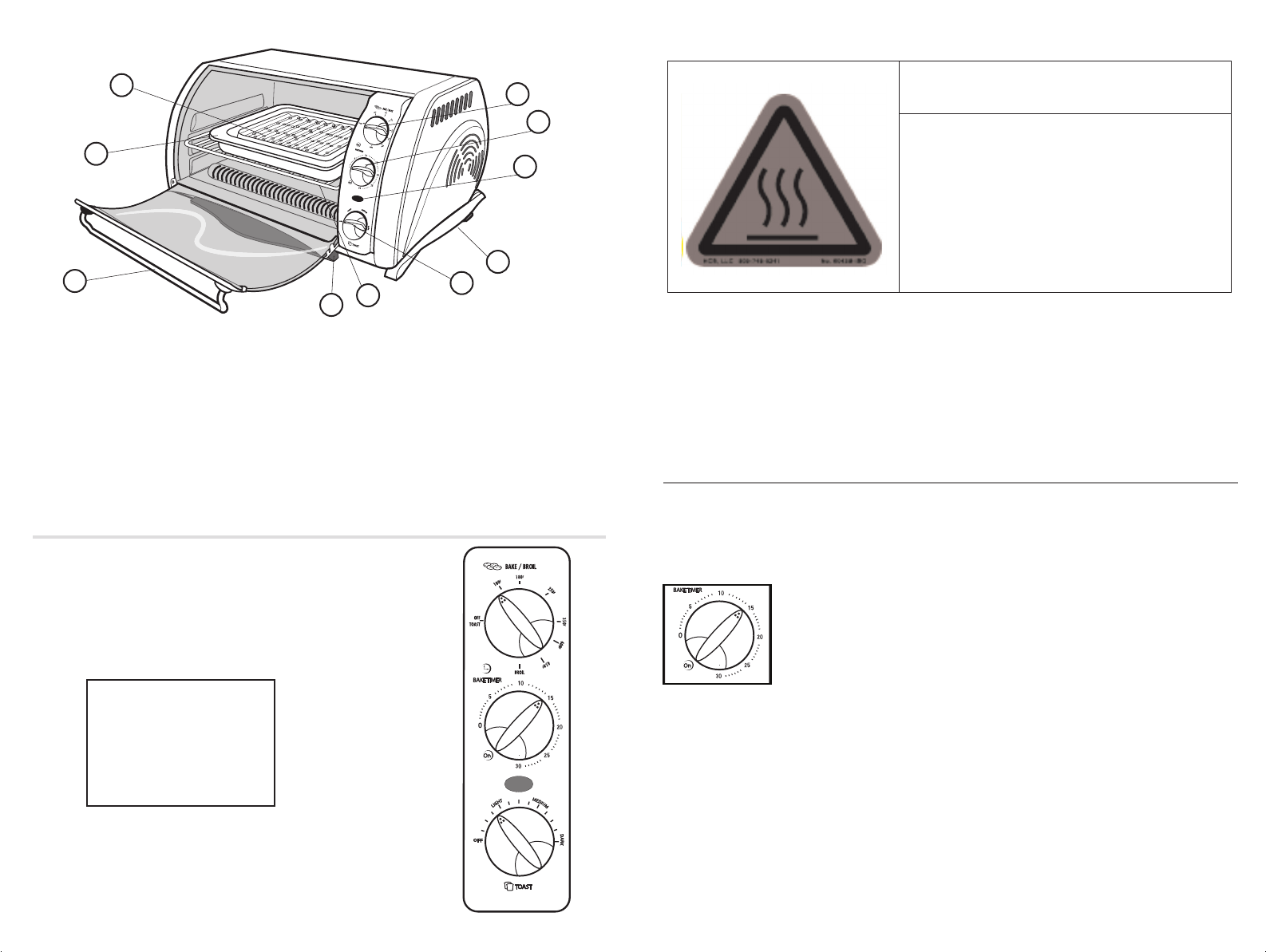 Page 3 of Black & Decker Toaster TRO651 User Guide