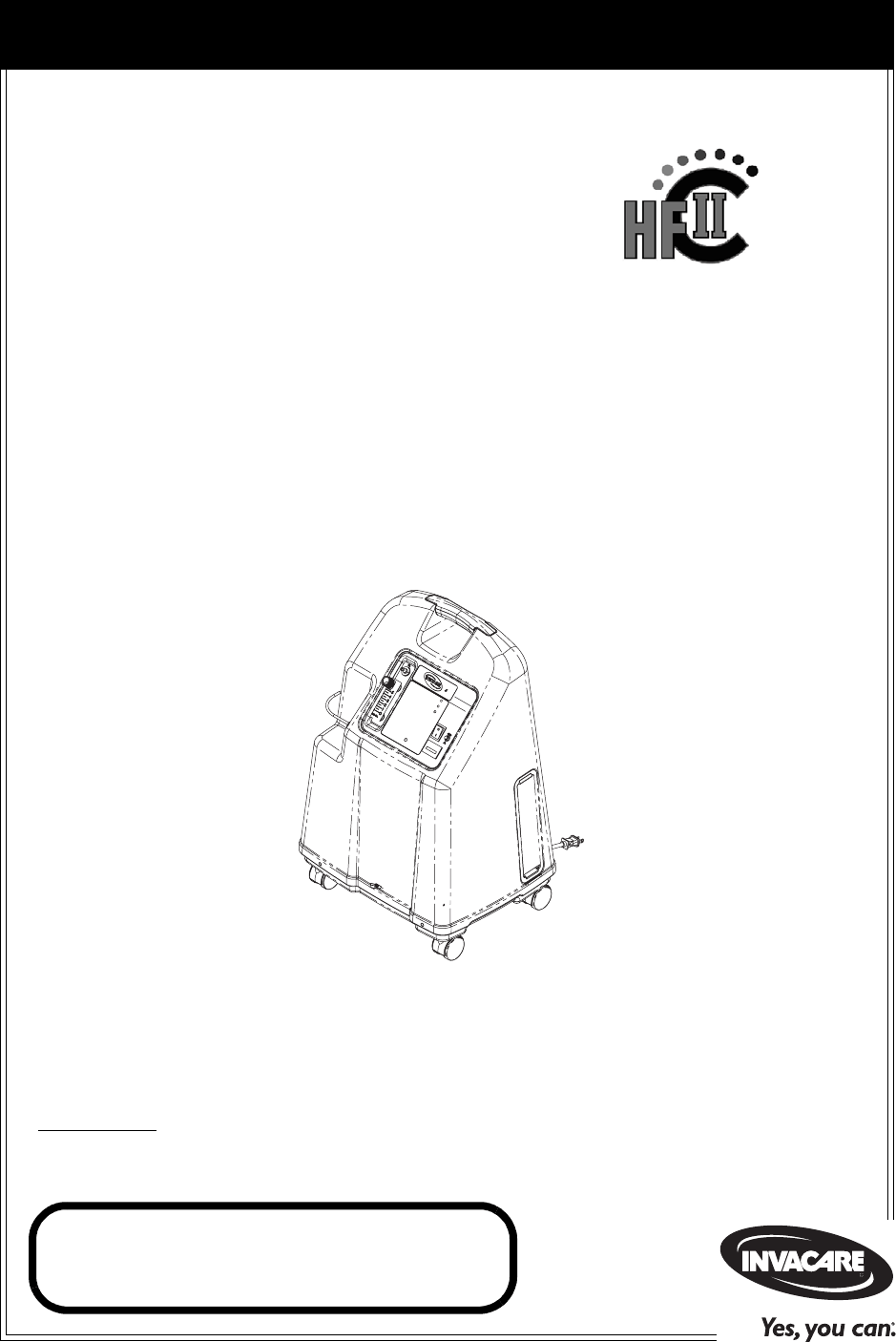 Invacare Respiratory Product IRC5LX User Guide