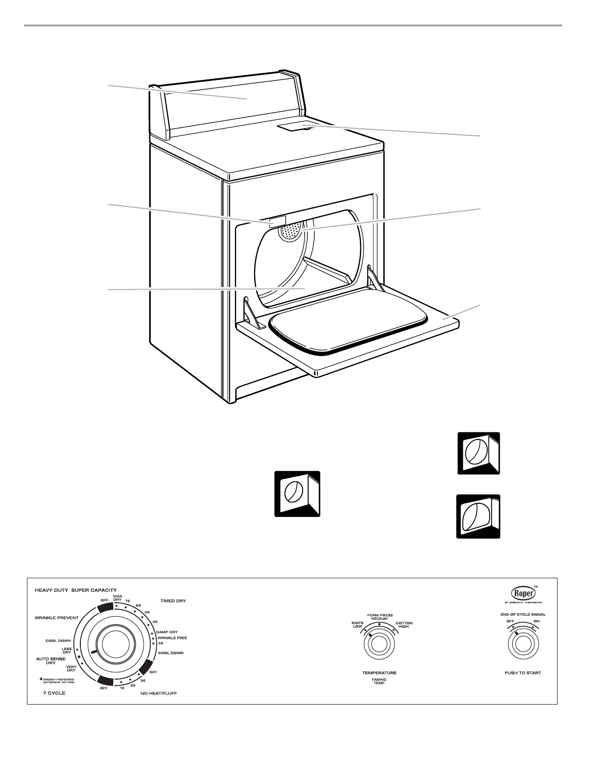 Page 5 of Roper Clothes Dryer 3405639A User Guide