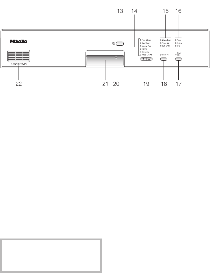 Page 31 of Miele Dishwasher G892SC User Guide