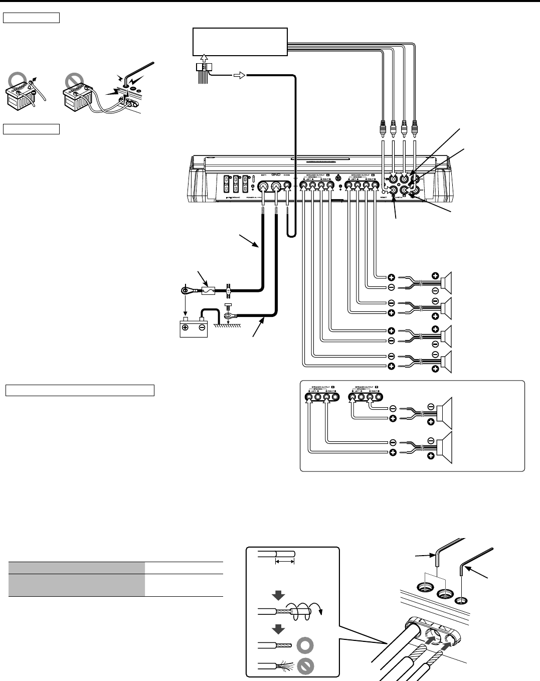 Page 24 of Kenwood Stereo Amplifier KAC-PS4D User Guide