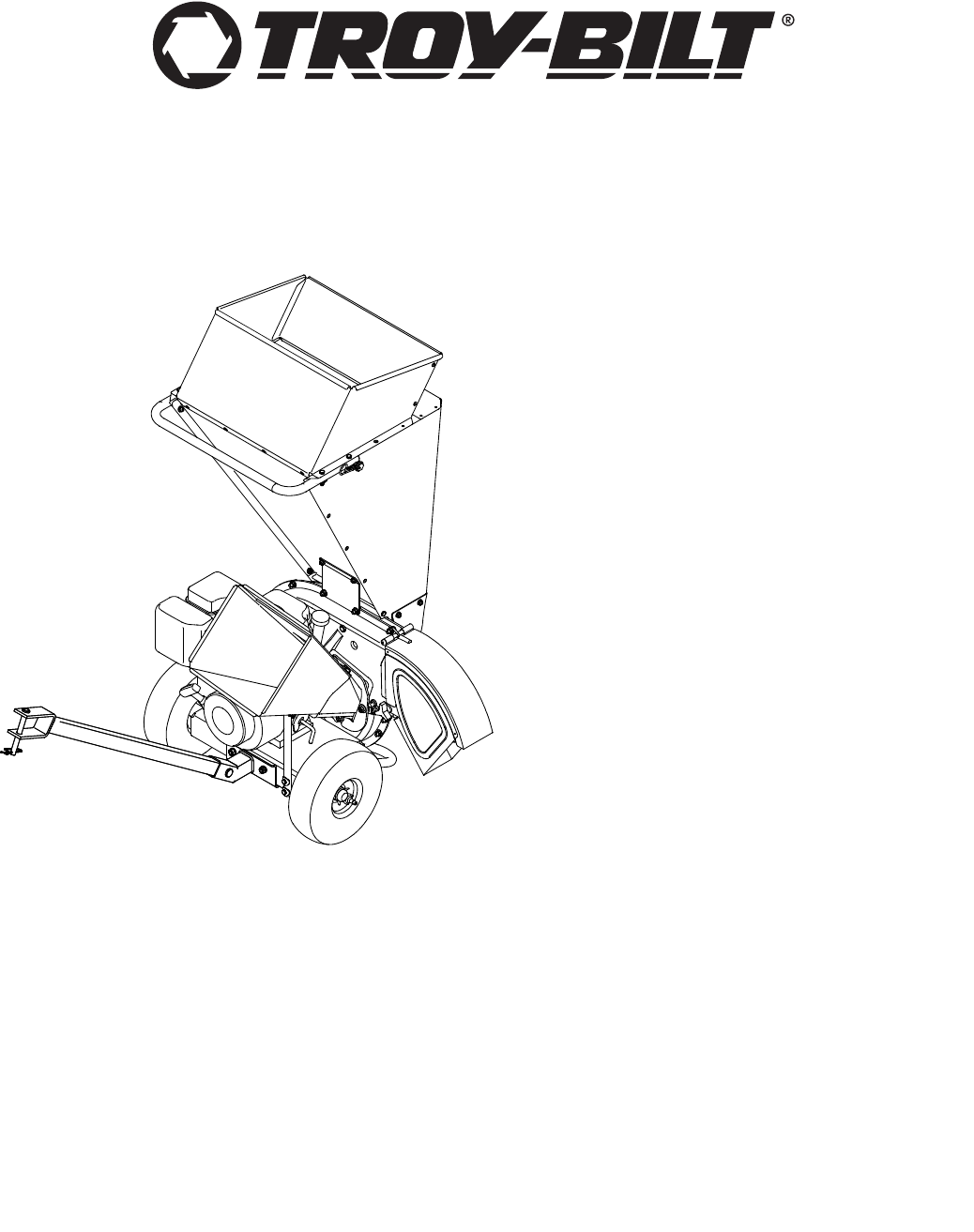 Troy-Bilt Chipper CS4210, CS4265 User Guide