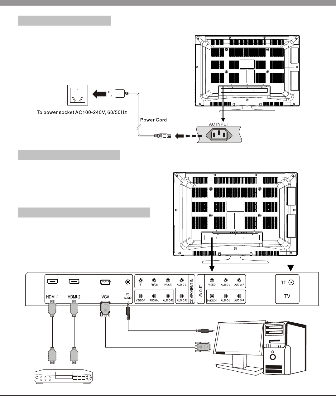 Page 9 of Haier Flat Panel Television 32T51 User Guide