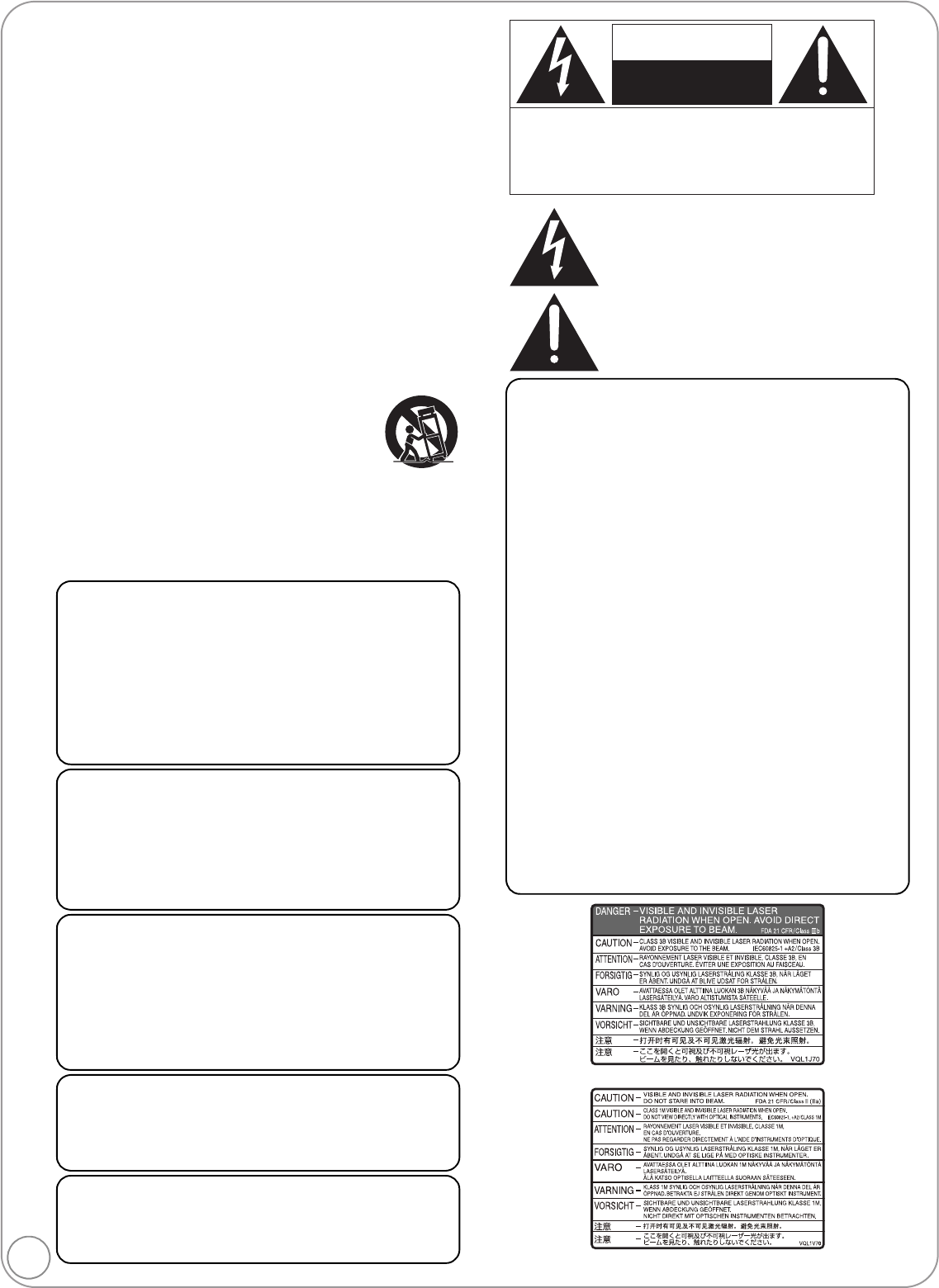 Page 2 of Panasonic DVD Player DMP-BD35 User Guide