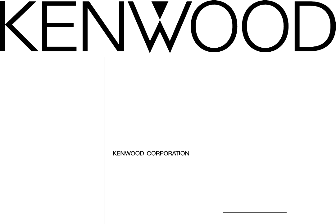 Kenwood Car Stereo System KRC-208S User Guide