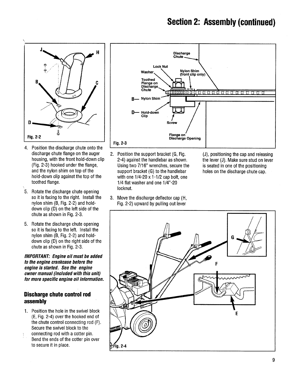 Page 9 of Troy-Bilt Snow Blower 42000 User Guide