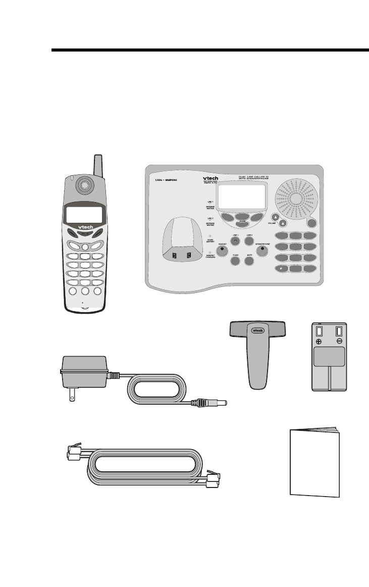 Page 4 of VTech Telephone 20-2481 User Guide