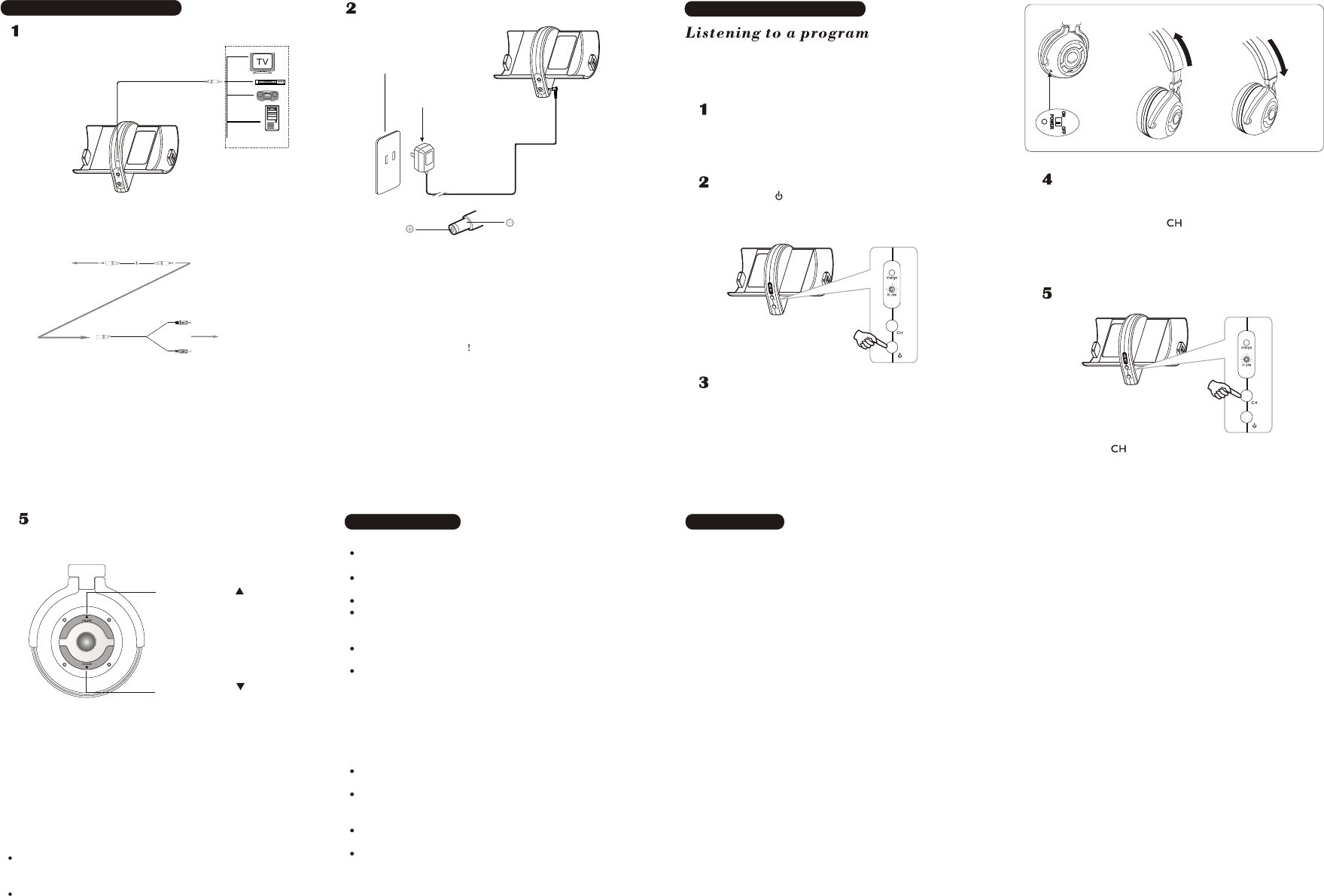 Page 2 of COBY electronic Headphones CV 890 User Guide