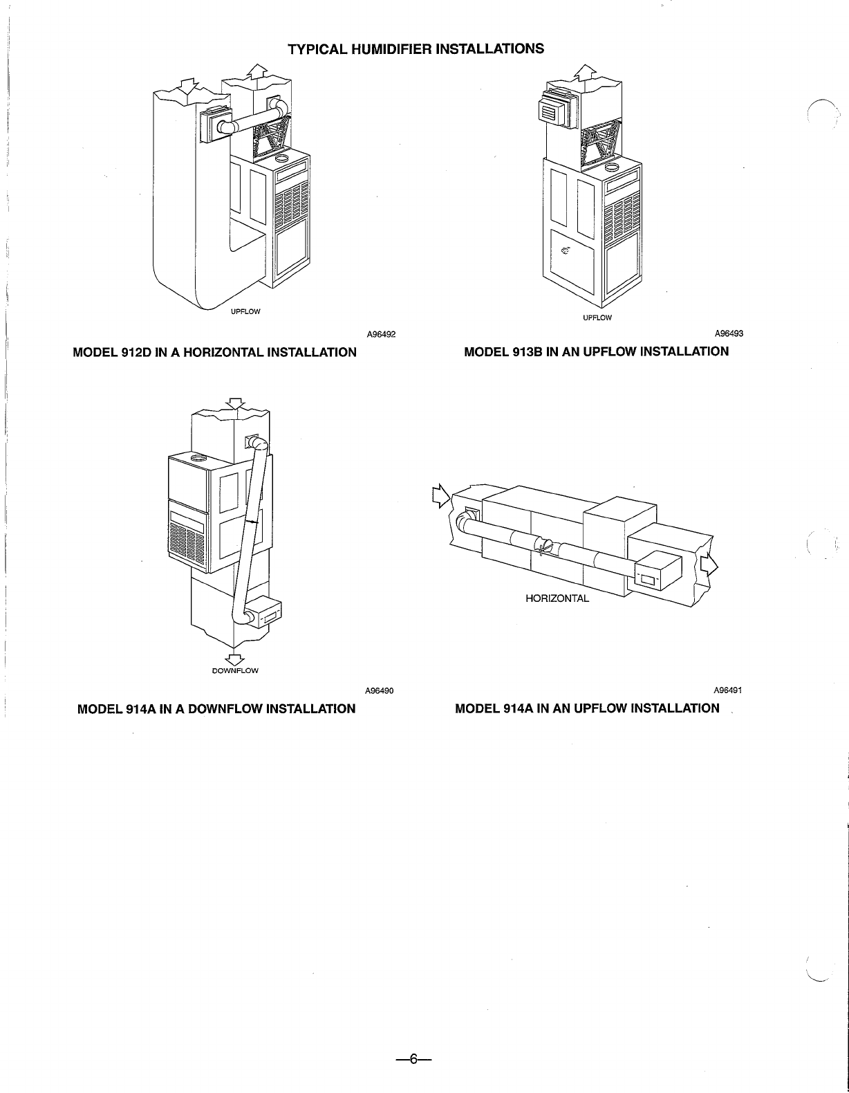 Page 6 of Bryant Humidifier 912E User Guide