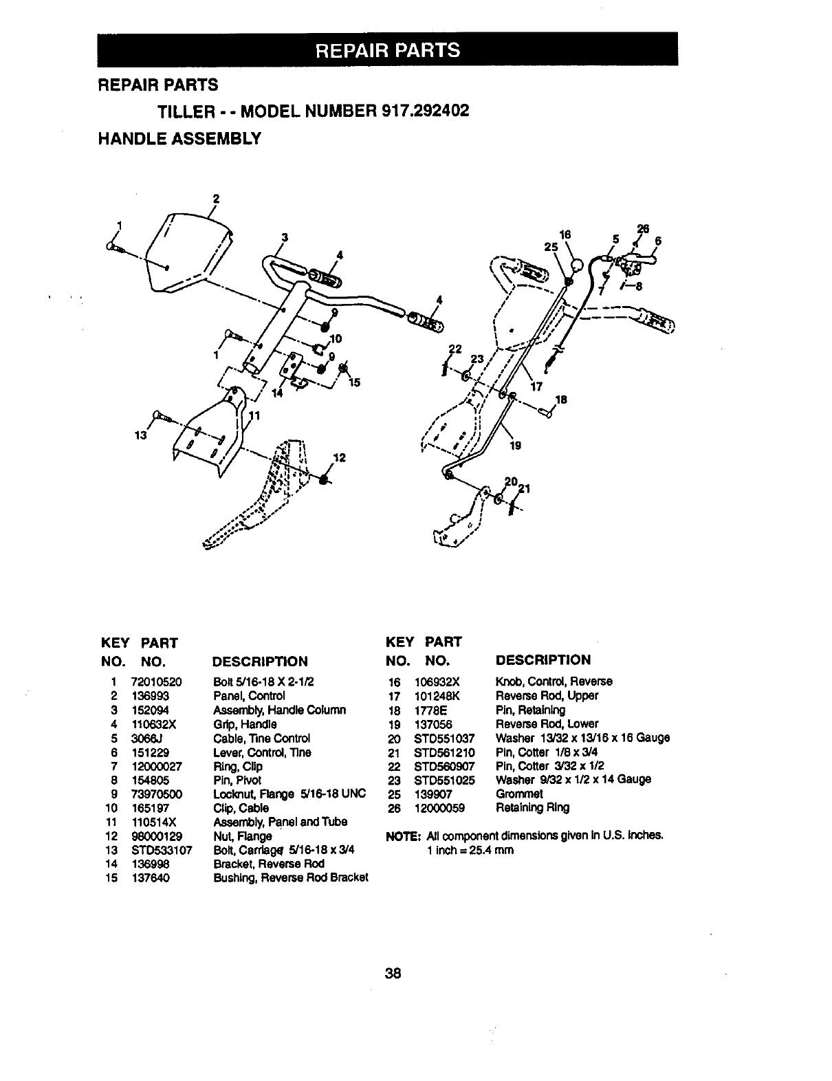 Page 19 of Craftsman Tiller 917.292402 User Guide