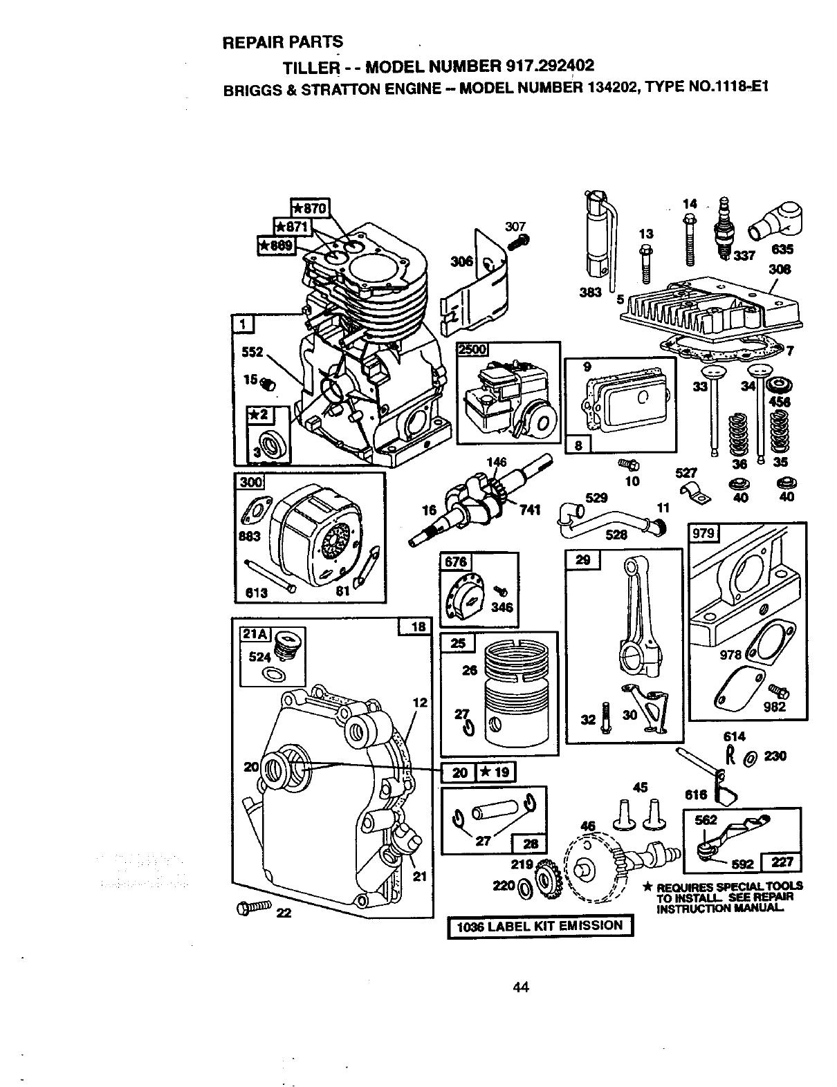 Page 25 of Craftsman Tiller 917.292402 User Guide