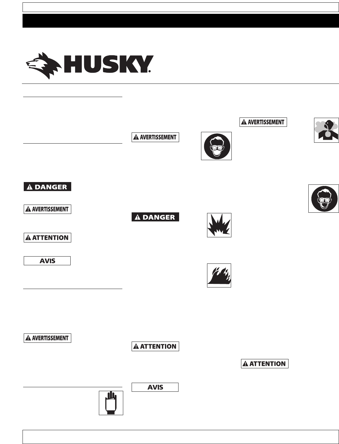 Page 7 of Husky Paint Sprayer HDS Series User Guide