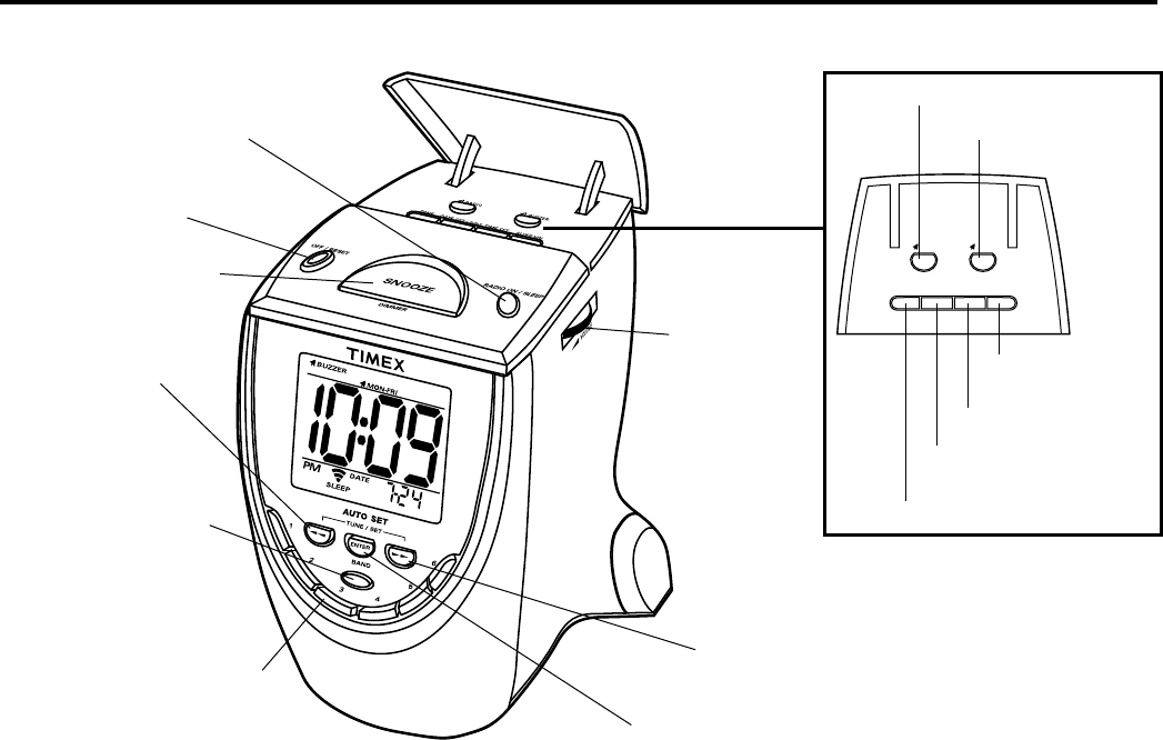 Page 5 of Timex Clock Radio T313 User Guide