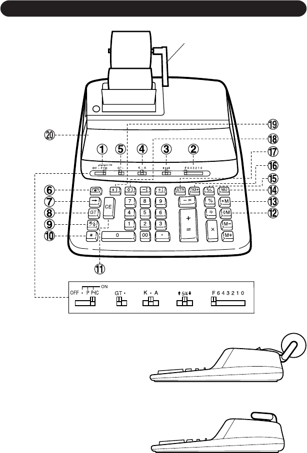 Page 3 of Sharp Calculator VX-2652H User Guide