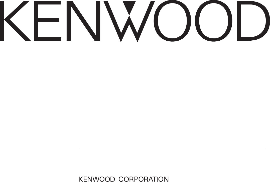 Kenwood Stereo Amplifier KAC-8102D User Guide