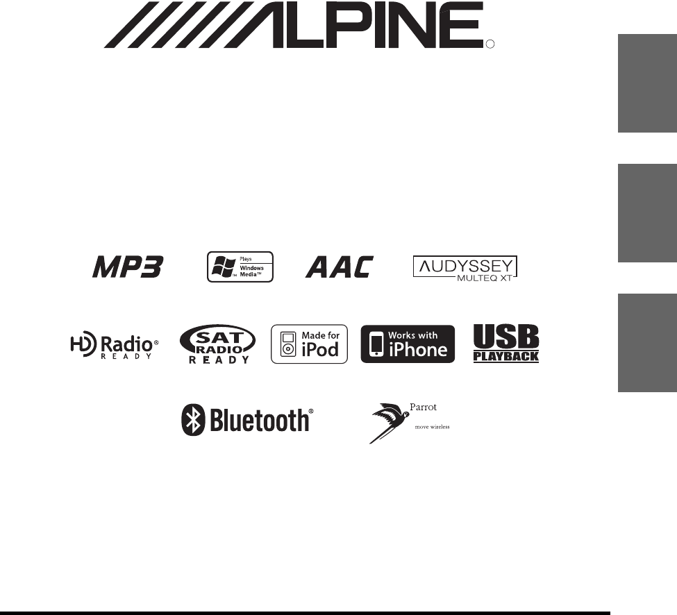 Alpine Car Stereo System IXA-W407 User Guide