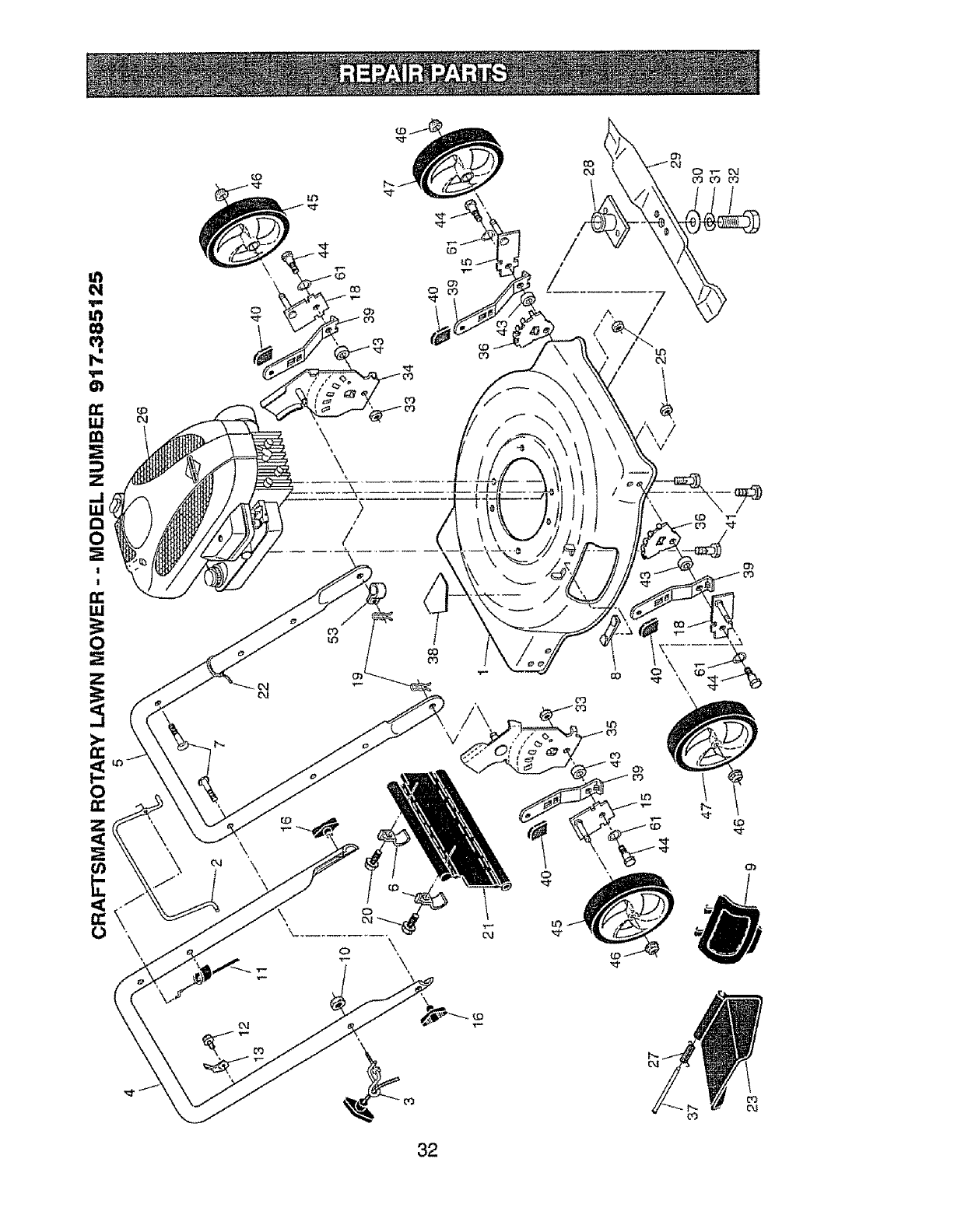 Page 32 of Craftsman Lawn Mower 917.385125 User Guide