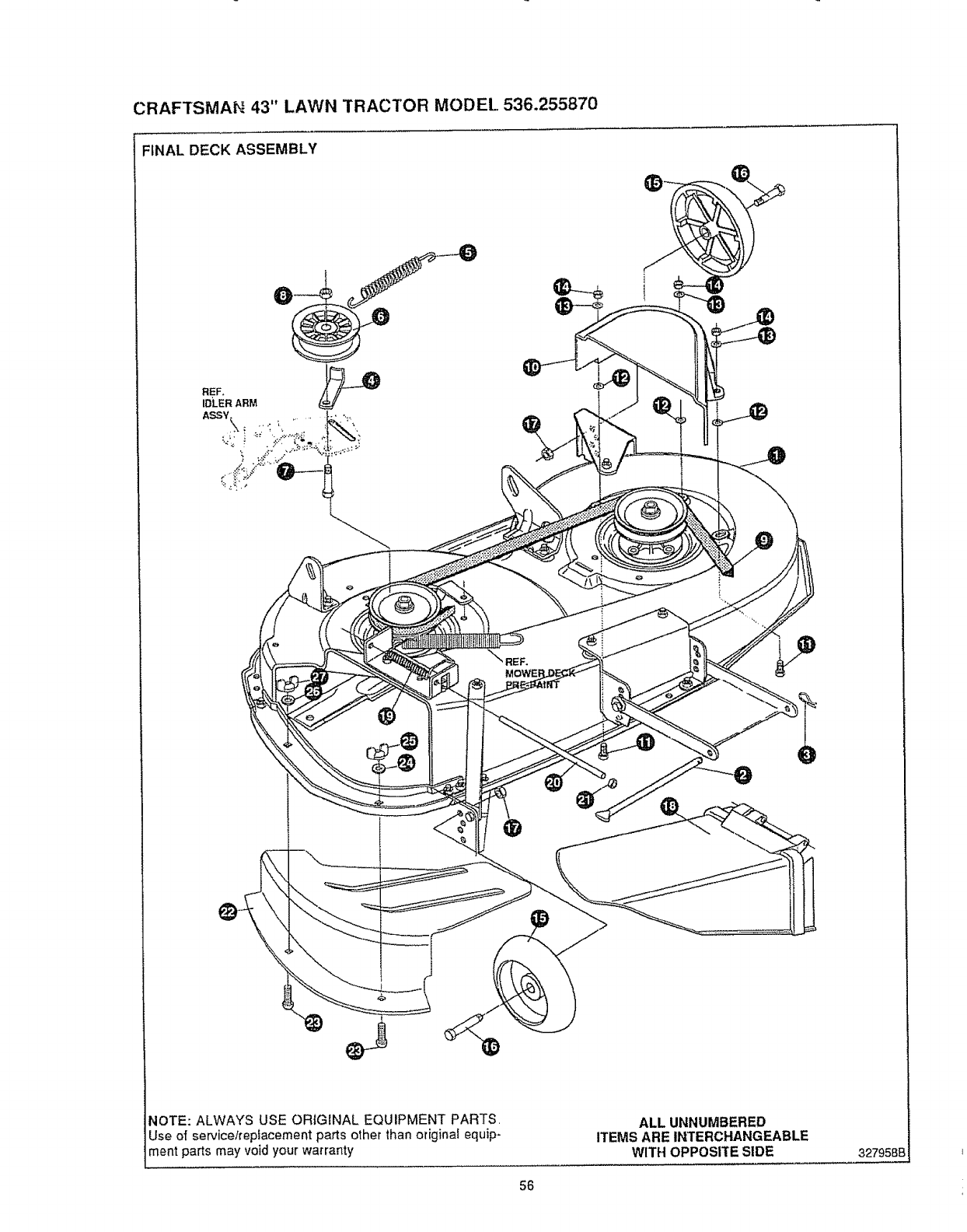 Page 56 of Sears Lawn Mower 536.25587 User's Guide